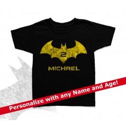 Batman Personalized Birthday Kids T Shirt
