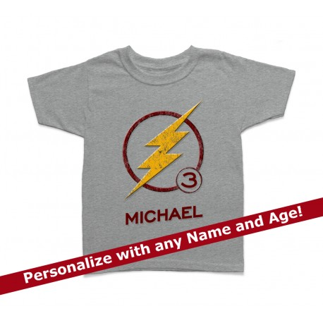 The Flash Personalized Birthday Kids T Shirt