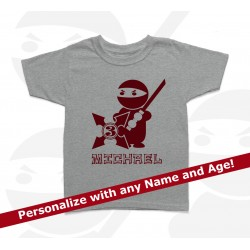 Ninja Personalized Birthday Kids T Shirt