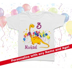 Dinosaur Personalized Birthday Kids T Shirt