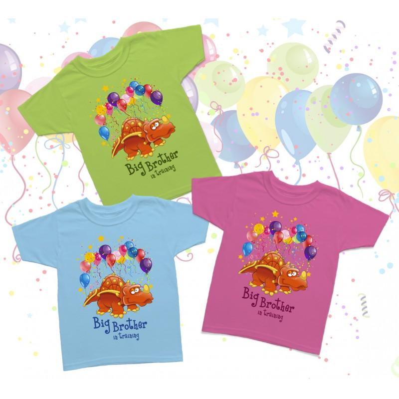 Big Brother Dinosaur Birthday Kids T Shirt