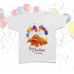 Big Brother Dinosaur Birthday Kids T Shirt