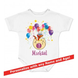 Dinosaur Personalized Birthday Onesie