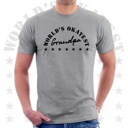 Worlds Okayest Grandpa T Shirt