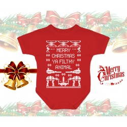Merry Christmas Ya Filthy Animal Star Wars Baby Onesie
