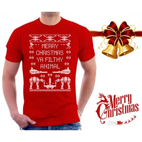 Merry Christmas Ya Filthy Animal Star Wars T Shirt