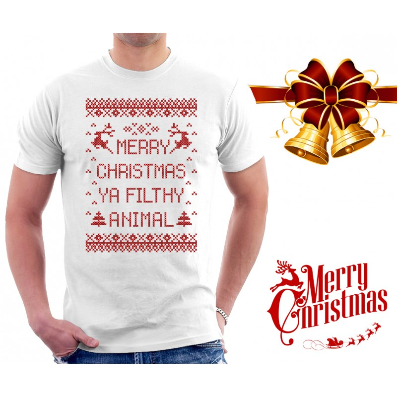 Merry Christmas Ya Filthy Animal Shirt Mens Sweater Vest