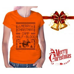 Merry Christmas Camp Half Blood Womens T-Shirt