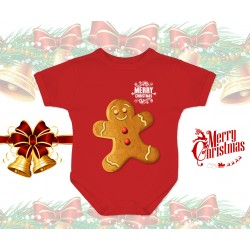 Christmas Gingerbread Baby Onesie