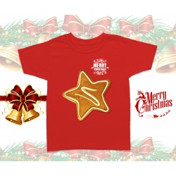 Christmas Gingerbread Star Kids T-Shirt