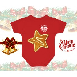 Christmas Gingerbread Star Baby Onesie