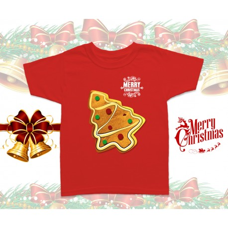 Christmas Gingerbread Tree Kids T-Shirt
