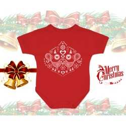 Christmas Birds Baby Onesie