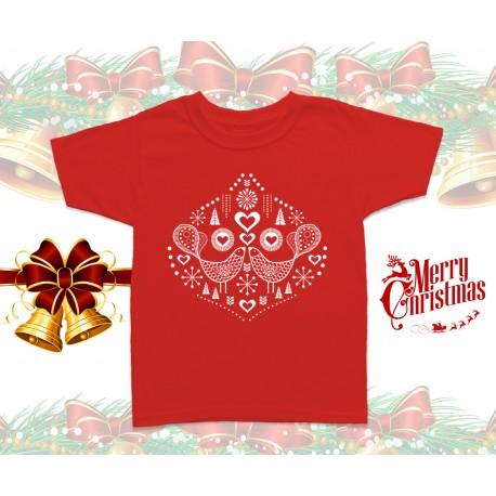Christmas Bird Kids T-Shirt