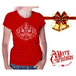 Christmas Birds Womens T-Shirt