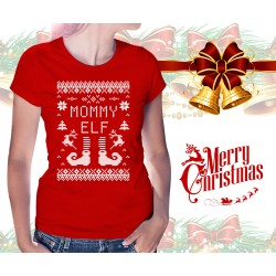 Christmas Elf Womens T-Shirt