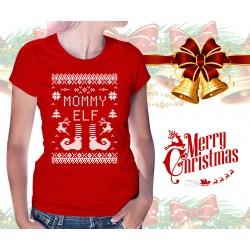 Christmas Elf Womens T-Shirt