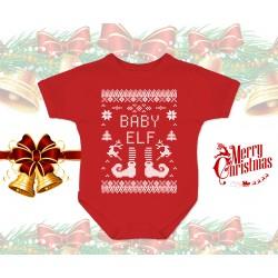 Christmas Elf Baby Onesie