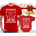 Christmas Elves Matching T-Shirt and Onesie