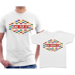 Mr Fix It and Mr Broke It Matching t shirts