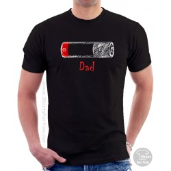 Battery Father T Shirt