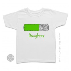 Battery Daughter Kids T Shirt