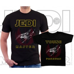 Jedi Master and Young Padawan Matching T-Shirts