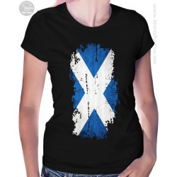 Scotland Flag Womens T Shirt