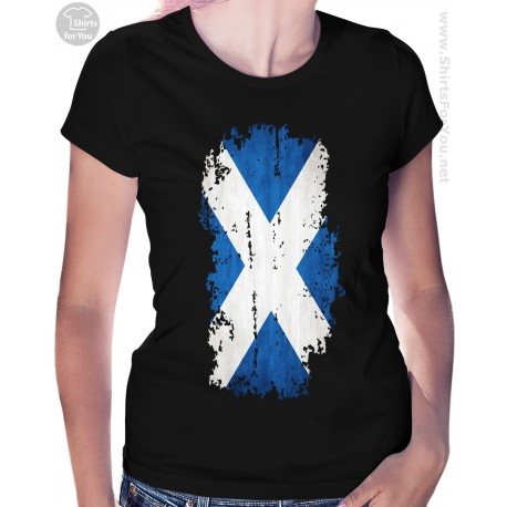 Scotland Flag Womens T Shirt
