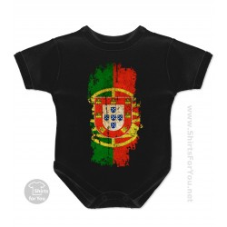 Portugal Flag Baby Onesie