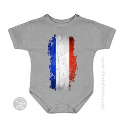 French Flag Baby Onesie