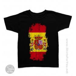 Spain Flag Kids T-Shirt