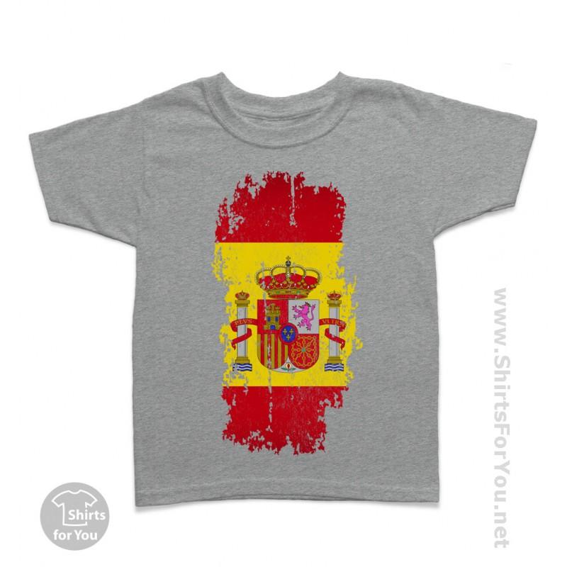 Kids // Childrens T-Shirt Spain Half German Half Spanish Flag 10 Colours