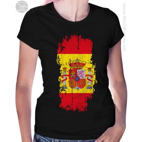 Spain Flag Womens T Shirt