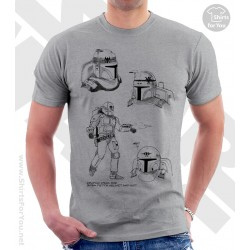 Boba Fett Star Wars Sketchbook Drawing T Shirt