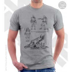 Boba Fett Ship and Suit Star Wars Sketchbook Drawing T Shirt