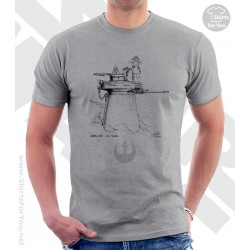 Rebel Gun Tower Star Wars Sketchbook Drawing T Shirt