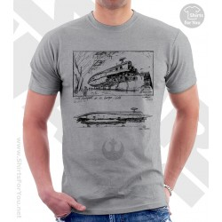 Rebel Transport Star Wars Sketchbook Drawing T Shirt