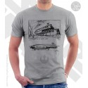 Rebel Transport Star Wars Sketchbook Drawing T-Shirt