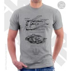 Snowspeeder Star Wars Sketchbook Drawing T Shirt