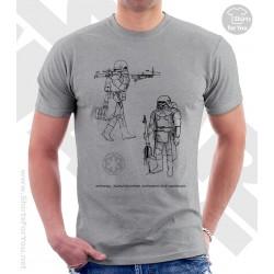 Snowtrooper Star Wars Sketchbook Drawing T Shirt