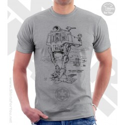 Very Early Drawing of Scout Walker Star Wars Sketchbook Drawing T Shirt