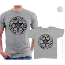 Sheriff and Deputy Sheriff Matching T Shirts