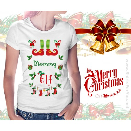 Mommy Elf Womens T Shirt