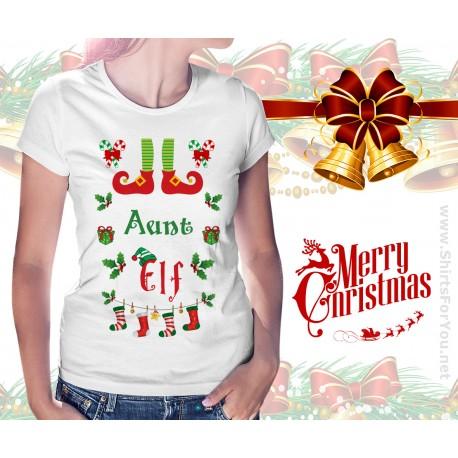 Aunt Elf Womens T Shirt