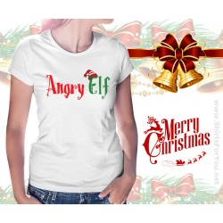 Angry Elf Womens T-Shirt
