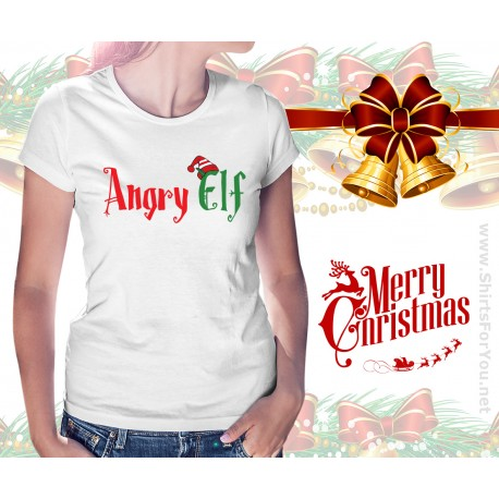 Angry Elf Womens T Shirt