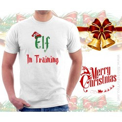 Elf in Training Christmas T Shirt