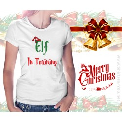 Elf in Training Christmas Womens T Shirt