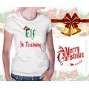 Elf in Training Christmas Womens T-Shirt